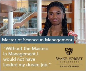 Master of Science in Management at Wake Forest